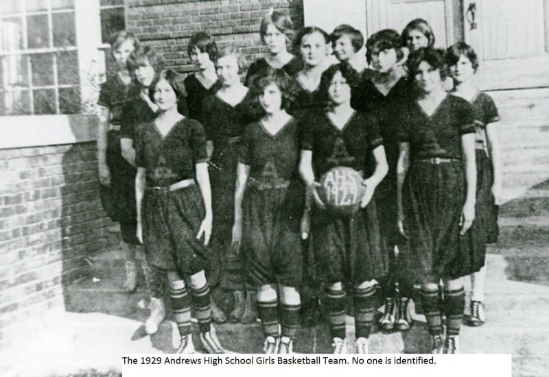 1929 Andrews Girl's Basketball