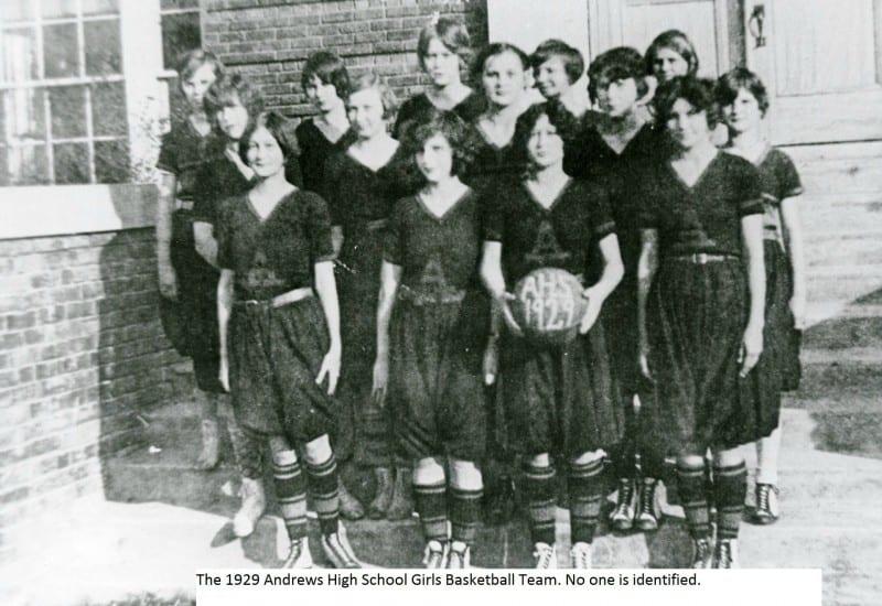 1929 Andrews Girl's Basketball