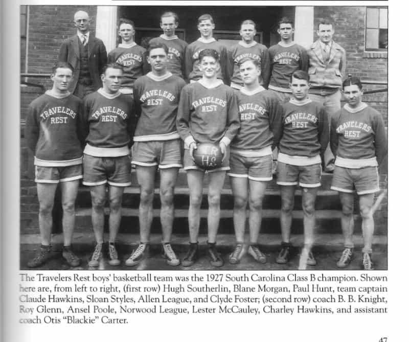 Travelers Rest High School 1927