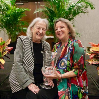 Sara June Goldstein (2018 Governors Award recipient) and her mother, Dixie Goswami, a former Governor's Award recipient