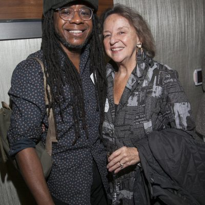 Marcus Amaker (2019 Fresh Voice) and Sara June Goldstein (2018 Governors Award)